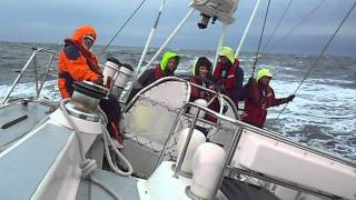 Lisa from Perth YMCA steering us across the Irish Sea