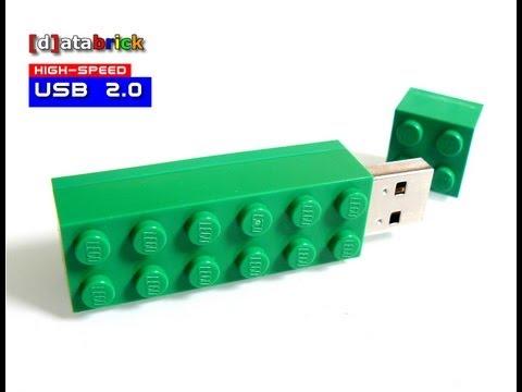 handmade Pendrive goes LEGO® 2x6 Brick - YouTube