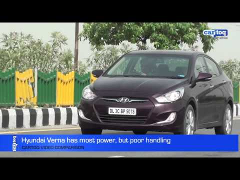 Best Performance Mid-size Sedans in India: Video Comparison by CarToq.com
