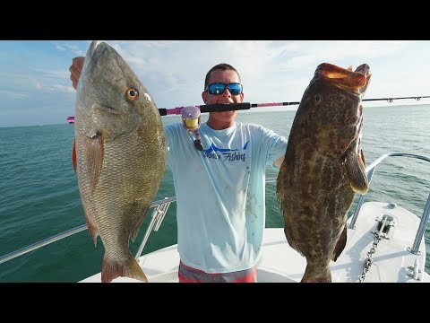 BIG Snapper and Grouper! - Catch Clean Cook-  Mutton Snapper