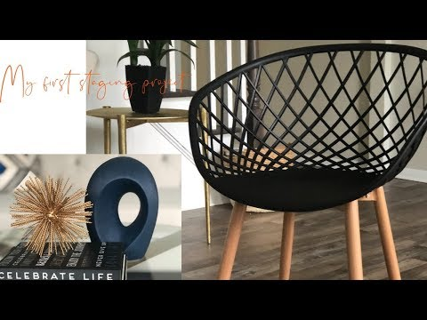 Living Room Tour!  My first staging project   Alexis Elle Design