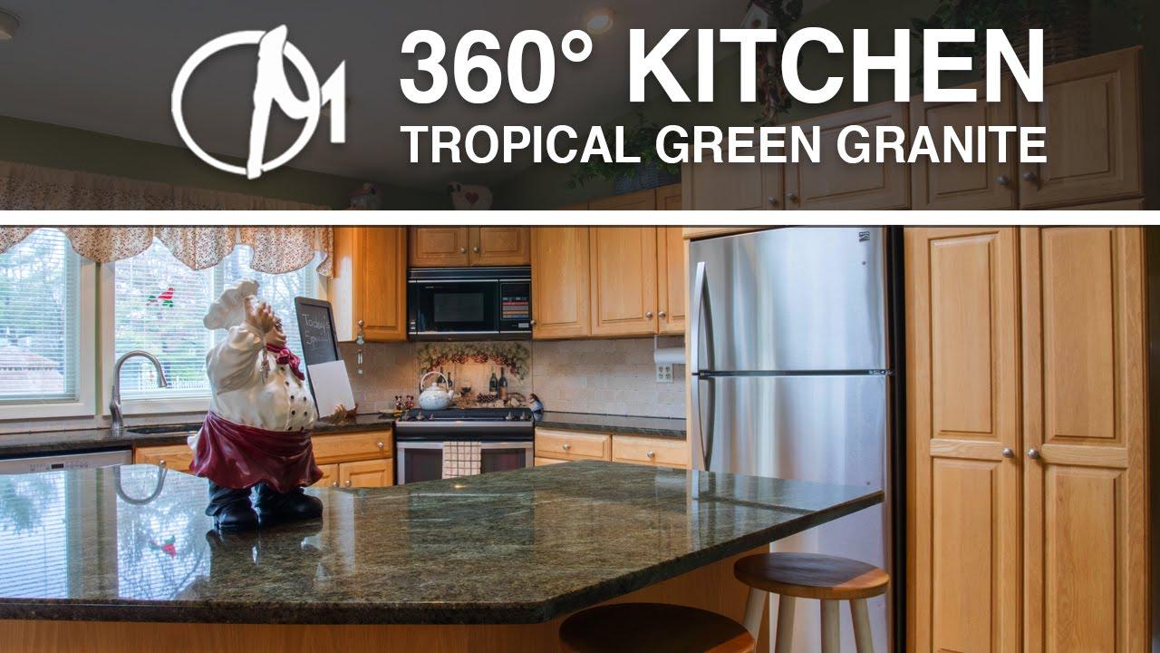 Tropical Green Granite Kitchen Countertops In 360˚