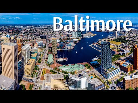 Baltimore City Tour Ultra HD - Baltimore Drone View - Baltimore Maryland