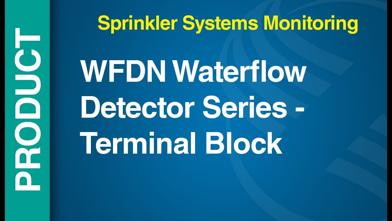 WF -- WFDN - WFDN Waterflow Detector Series - Terminal Block - YouTube