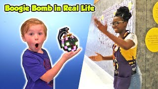 Using Fortnite Boogie Bomb in Real Life on People!