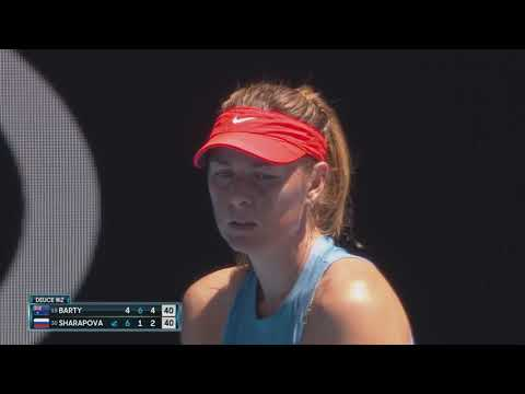 AO Highlights: Sharapova v Barty - Round 4/Day 7   Wide World Of Sports