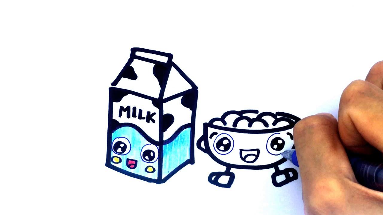 cara gambar kotak susu sereal belajar gambar untuk anak