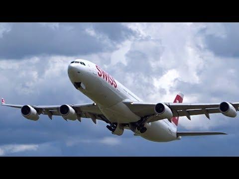 Zurich Airport Plane Spotting - Rare Afternoon Crosswind Takeoffs Runway 32 & 34