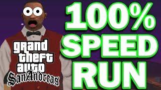 Grand Theft Auto: San Andreas 100% Speedrun [16:13:58]