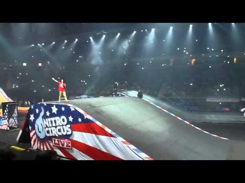 Nitro Circus Live UK - 26.11.13 - Nitro Bomb (25 Rider Trick Train) FMX And BMX