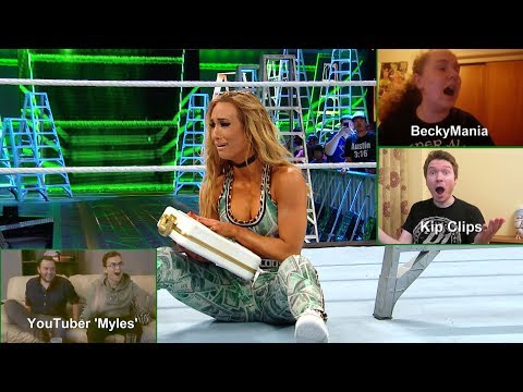 Exclusive fan reactions to the first-ever Women's Money in the Bank Ladder Match (WWE Network)