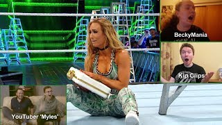 Exclusive fan reactions to the first-ever Women's Money in the Bank Ladder Match (WWE Network) thumbnail