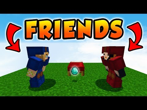MAKING FRIENDS WITH THE ENEMY!   Minecraft Bed wars