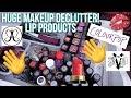 HUGE MAKEUP DECLUTTER: LIP PRODUCTS - LIPSTICK, LIQUID LIPSTICK AND MORE