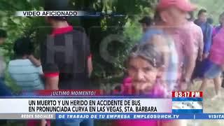 Fatal accidente vial deja una persona muerta en Las Vegas Santa Bárbara