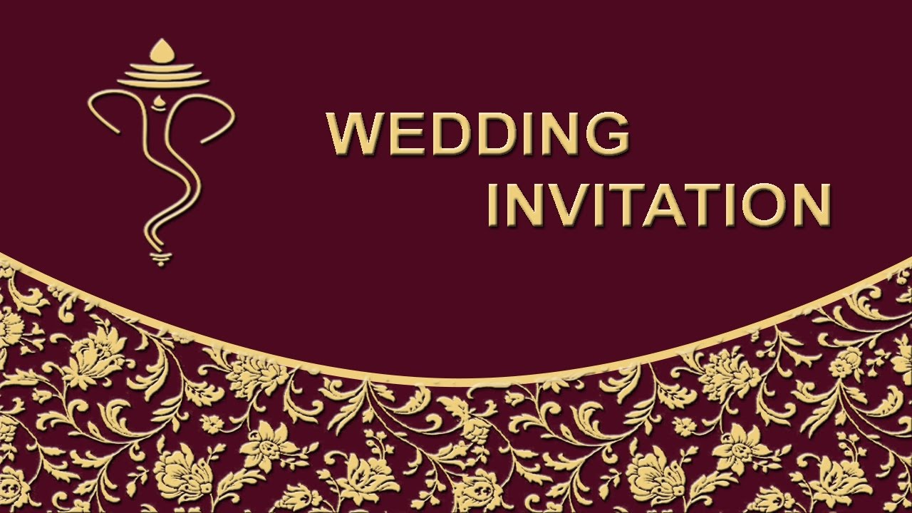 How To Create Wedding Invitation Card Front Page In Photo