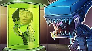 - ГРЕННИ И ДЕДУЛЯ против ЧУЖОГО В МАЙНКРАФТ Летающая тарелка хищника Minecraft ALIEN vs PREDATOR
