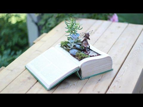 DIY Vintage Book into Fairy Garden