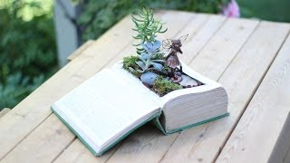 Diy Vintage Book Into Fairy Garden
