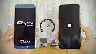Samsung Galaxy NOTE FE vs iPhone 7 Plus - Speed Test! (4K)