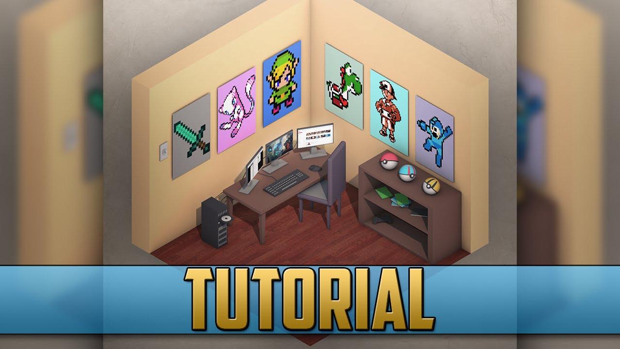 basic isometric room tutorial cinema 4d youtube. Black Bedroom Furniture Sets. Home Design Ideas