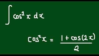 Integral of cos^2(x) using the Half Angle Formula