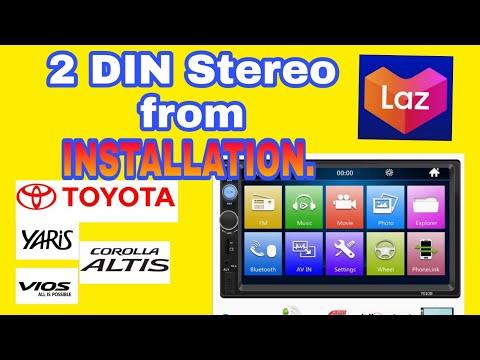 Toyota Vios Double  DIN Head Unit Installation (Lazada)
