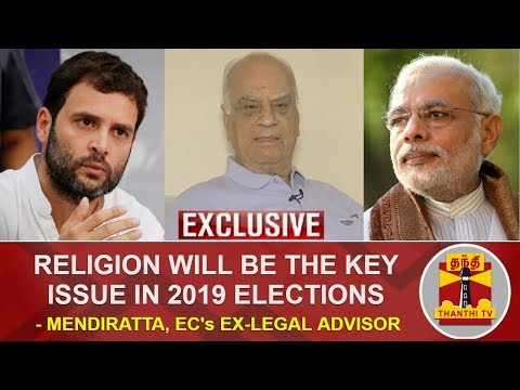 Religion will be the key issue in 2019 Elections - Exclusive Interview with Mendiratta | Thanthi TV