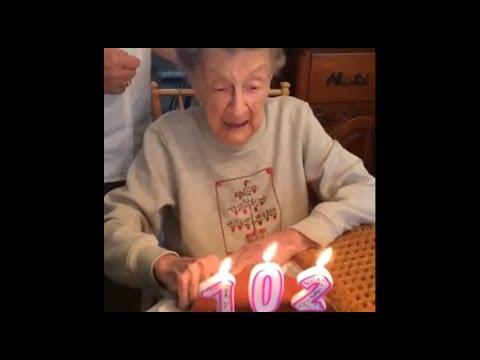 une grand mre de 102 ans fte son anniversaire voila ce qui arrive cest terrible