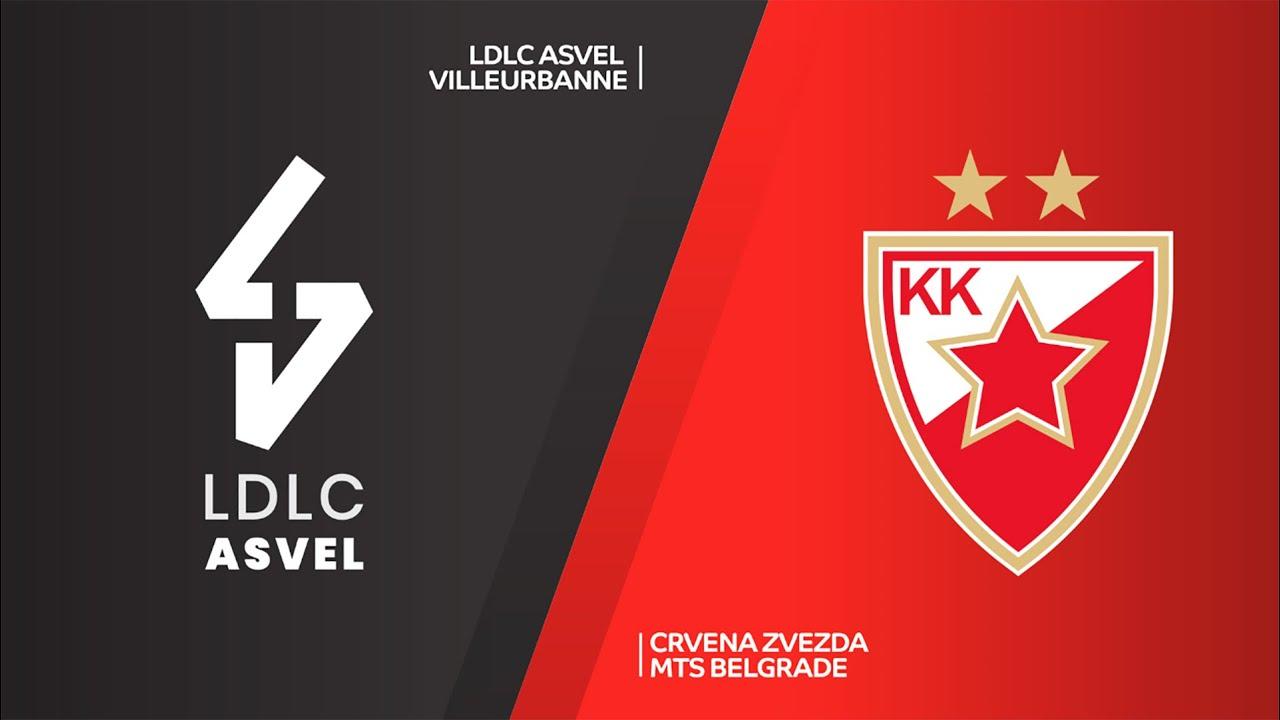 LDLC ASVEL Vileurbanne - Crvena Zvezda mts Belgrade 80:83