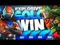 Fortnite Mobile - EXPLOSIVE WIN - Insane Kill Streak Gameplay