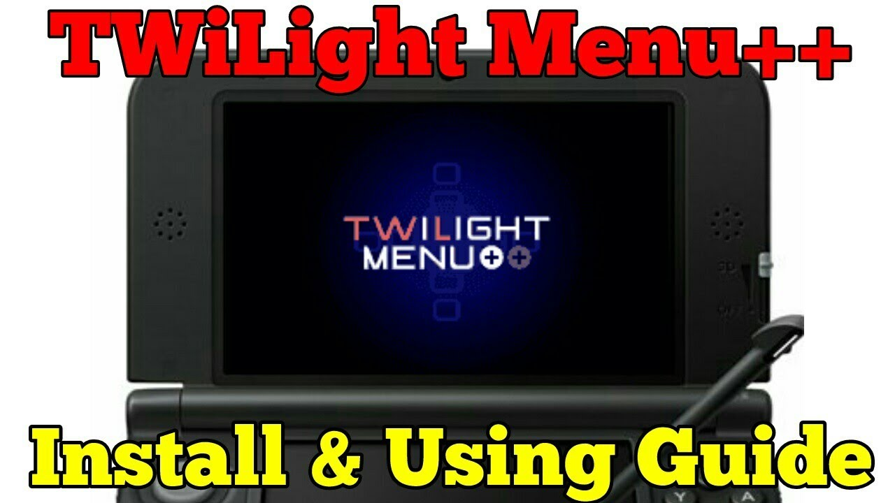 How to install and use TWiLight Menu++   The best NDS -