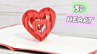 Vero Vi ❤️ TARJETA DE CORAZON 3D / Pop up heart card- San valentin y dia de la madre.