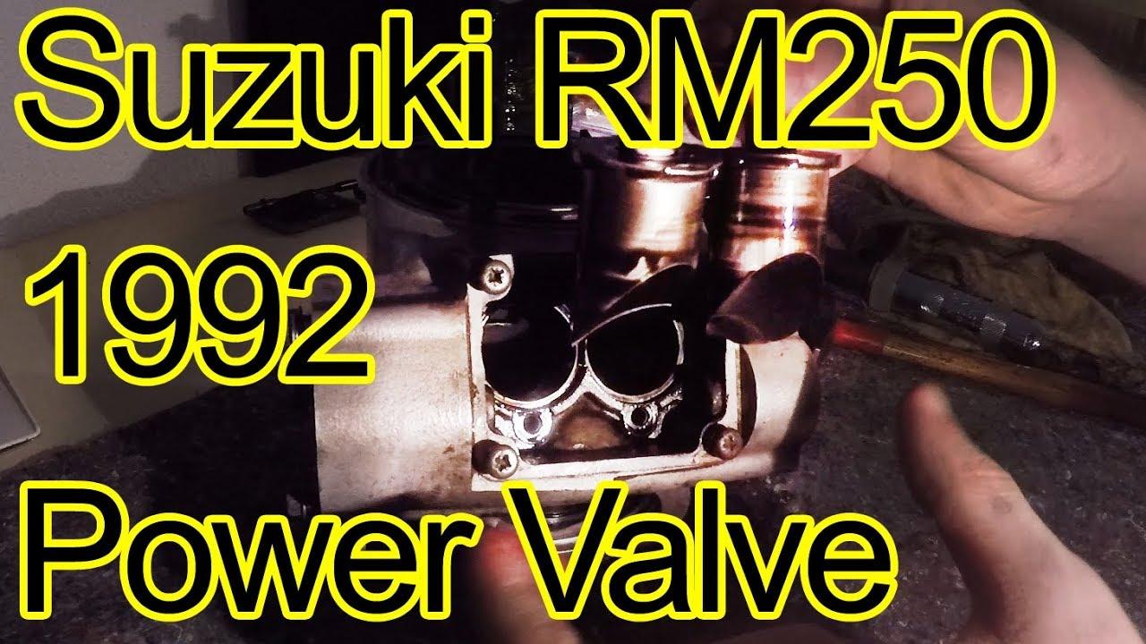 Suzuki RM 250 1992 Power Valve Issue and rebuild - no full throttle