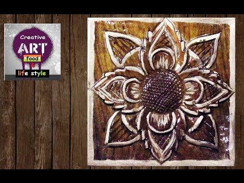 Wood carving | basic flower |  Art with Creativity