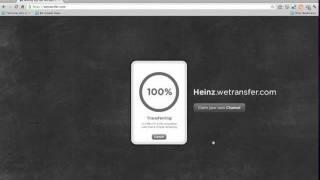 How To upload a file using wetransfer.com