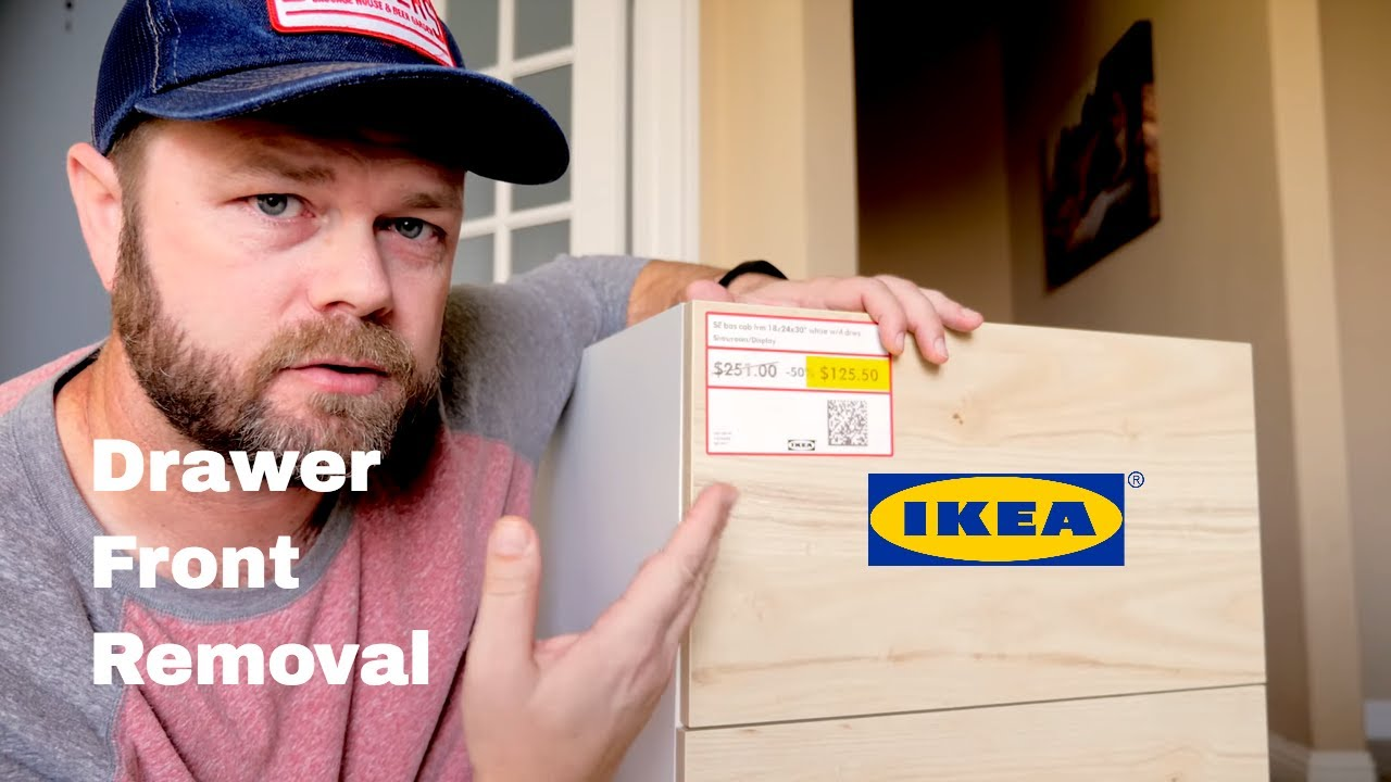 How to Remove an IKEA Drawer Front | DIY IKEA Hack