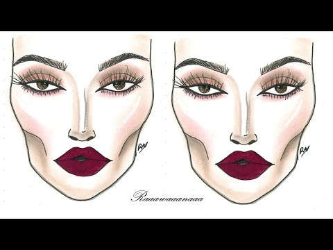 How To - Dramatic Face Chart Makeup Tutorial