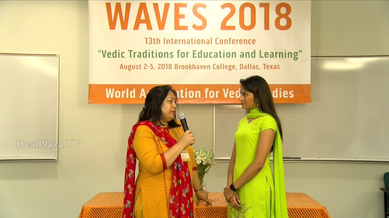 Media Byte / Interview with Ms Neeraja Sheth at WAVES  Dallas, Texas - 2018.