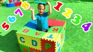 Учим английский алфавит, цифры и цвета с детьми   Сборник детских песенок