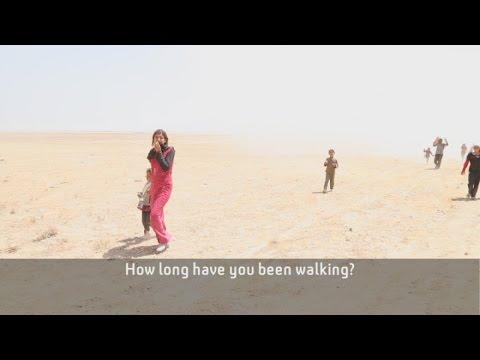On the road with Yazidis fleeing Islamic State