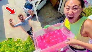 WATER BALLOON PRANK ON MY EX BOYFRIEND!!