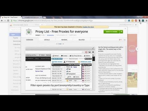 How to find free proxy server list