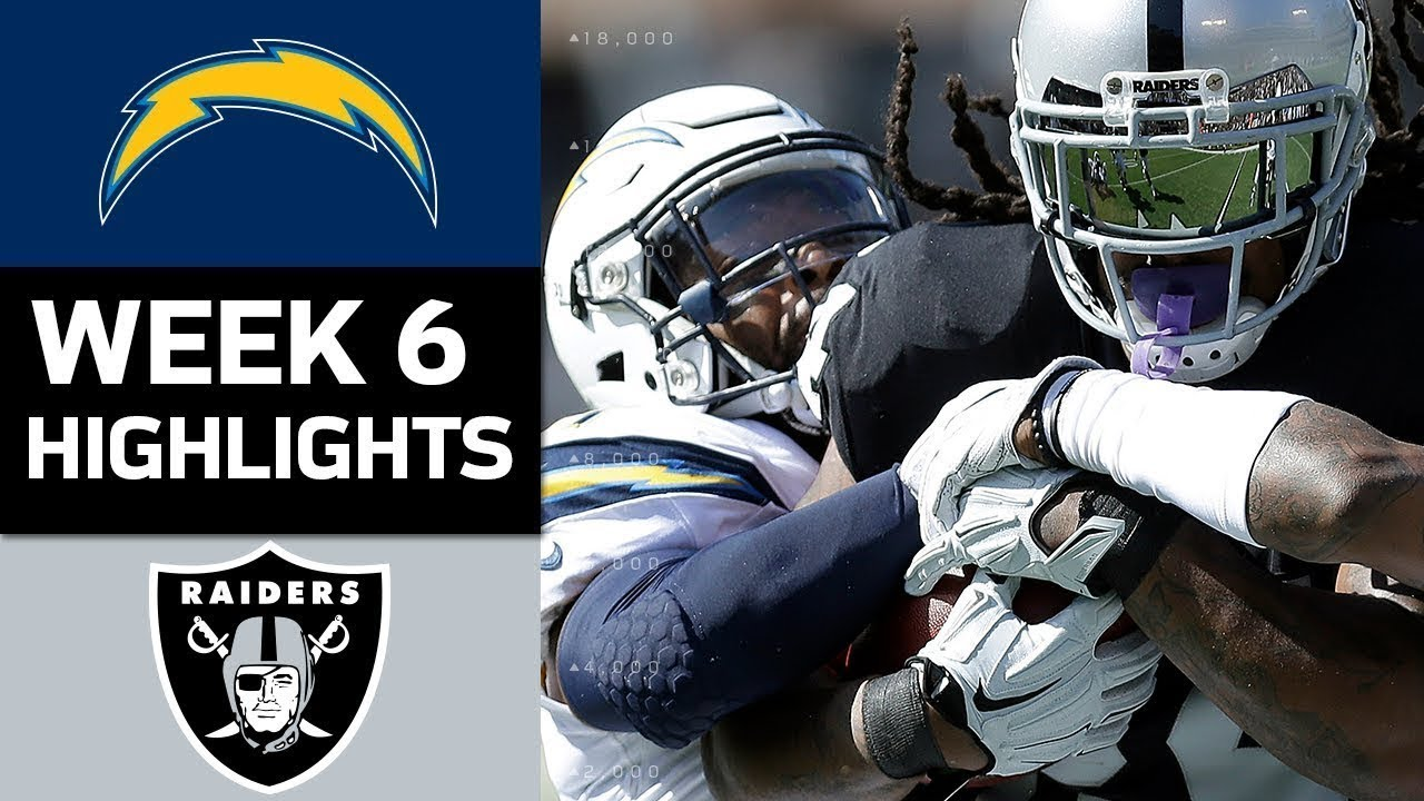d2dfb5fd Chargers vs. Raiders | NFL Week 6 Game Highlights - YouTube