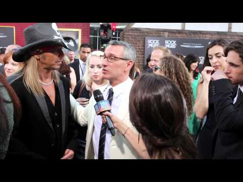 Adam Shankman & Bret Michaels Interview with Martha Quinn at the Rock of Ages Movie Premiere