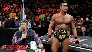 Jack Swagger interrupts Alberto Del Rio and Zeb Colter's State of MexAmerica Address: Raw, November