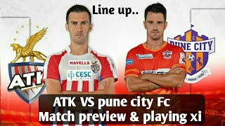 Atlatico de Kolkata vs pune city Fc match preview & playing xi