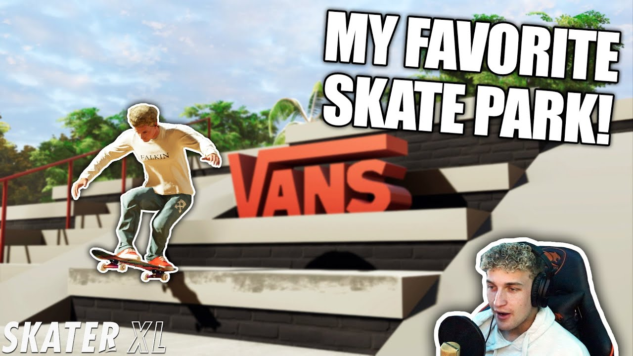 Skating my FAVORITE REAL LIFE SKATE PARK in Skater XL | Skater XL