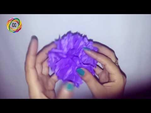 how to make tissue pom poms step by step