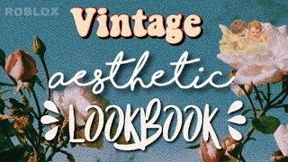 Vintage Aesthetic Lookbook♡ | ROBLOX | Cheap Aesthetic Outfits ☆